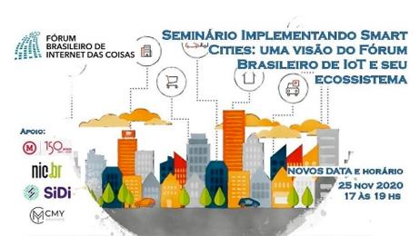 PISAC participa do Seminário Implementação de Cidades Inteligentes: visão do Fórum Brasileiro de IoT e seu ecossistema.